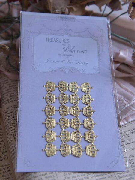 1 Ark guldfarvede kongekroner 1,5 cm