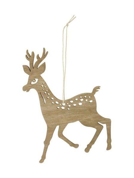 Ornament reindeer træ 8 cm