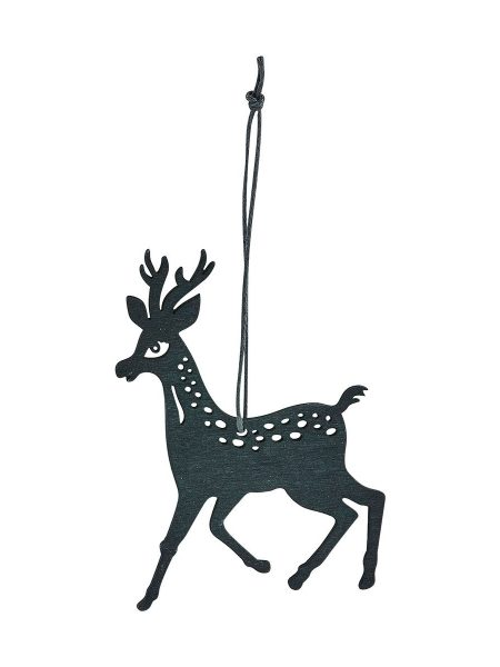 Ornament reindeer sort 15 cm