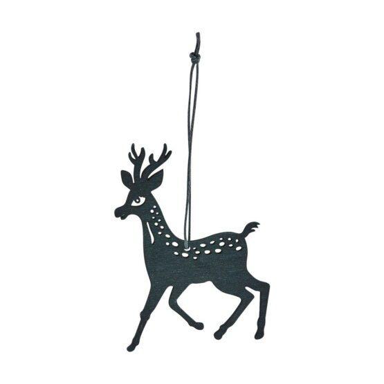 Ornament reindeer sort 15 cm
