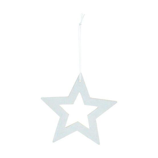 Ornament stars hvid 12 cm