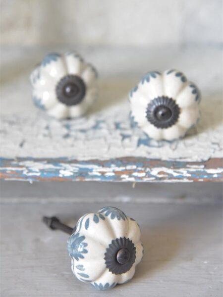 Greb - hvid/blå Ø.: 4 cm