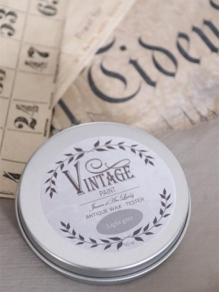 Vintage voks - Lys grå - 35 gram