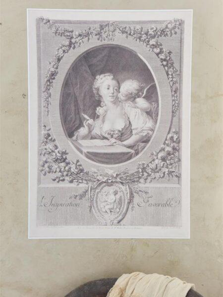 Plakat med kvinde og engel