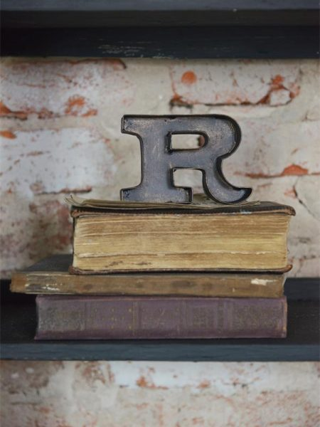 R-tegn - 10 cm - Mørk metal