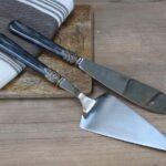 Linas Kagespade & kagekniv sæt af 2 i antique kul