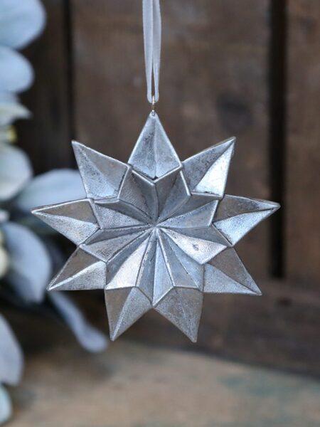 Toulon Stjerne m. ophæng - antique sølv