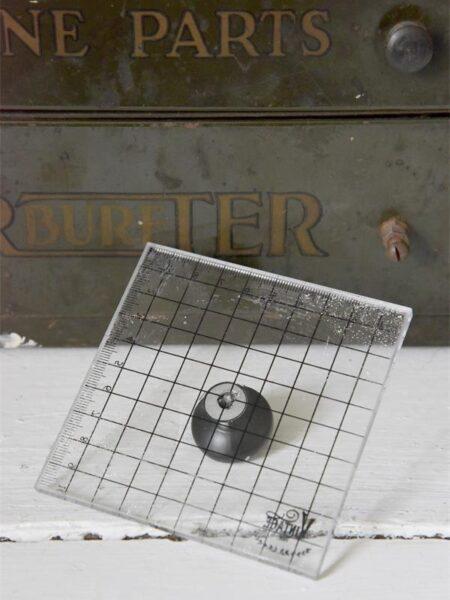 Trykplade med håndtag - 10 x 10 cm