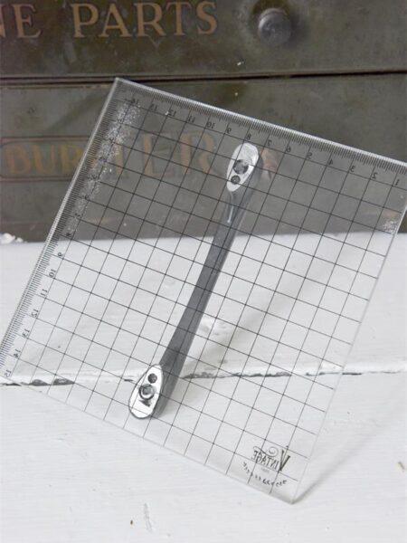 Trykplade med håndtag - 15 x 15 cm