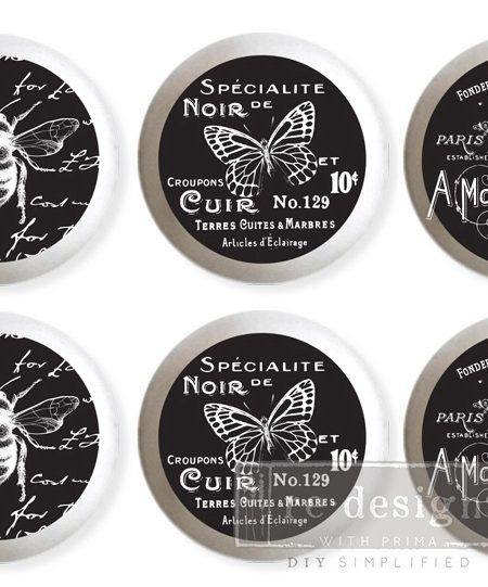 Knop transfer papir - French Noir