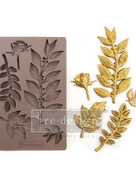 Deko. støbeform - Leafy Blossoms