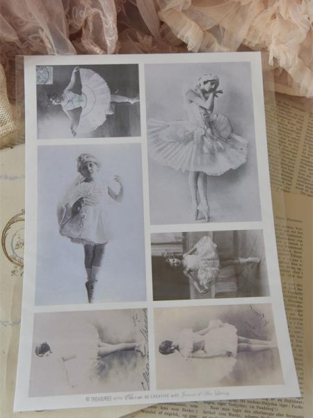 Ark med nostalgiske balletpiger