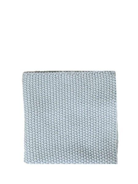 Karklud perlestrikket 100% bomuld - støvet blå