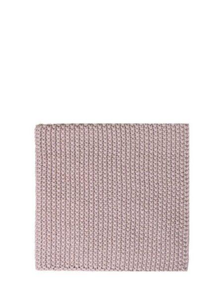 Karklud perlestrikket 100% bomuld - støvet rosa