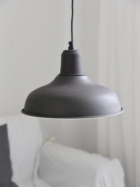 Hængelampe - 30 cm - Mørk metal, mat