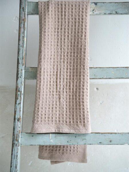 Håndklæde - 50x100 cm - Dusty rose
