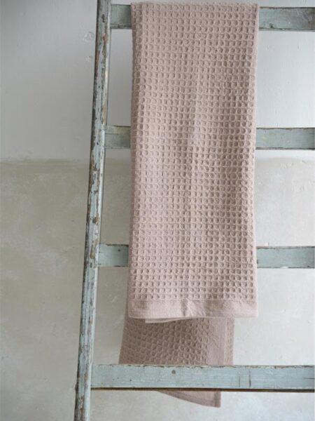 Badehåndklæde - 70x140 cm - Dusty rose