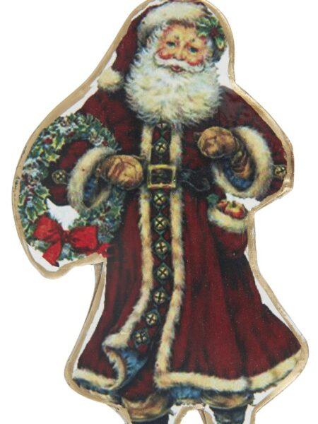 Julemand t/ophæng krans i hånden
