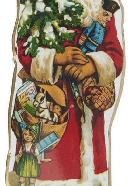 Julemand t/ophæng juletræ i hånden