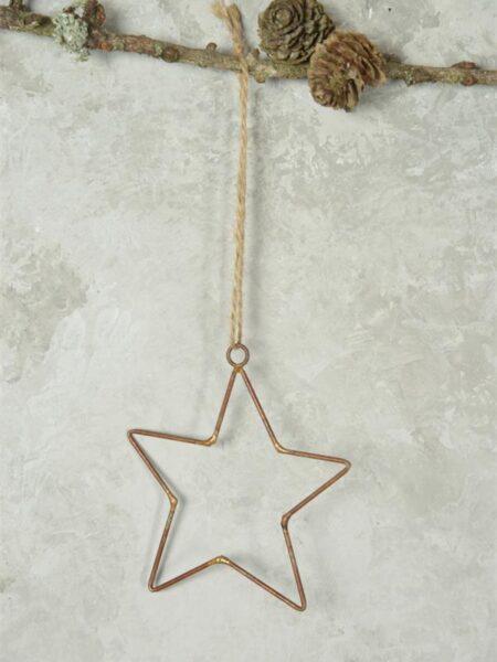 Stjerne - 10 cm - Gl. rustikt look