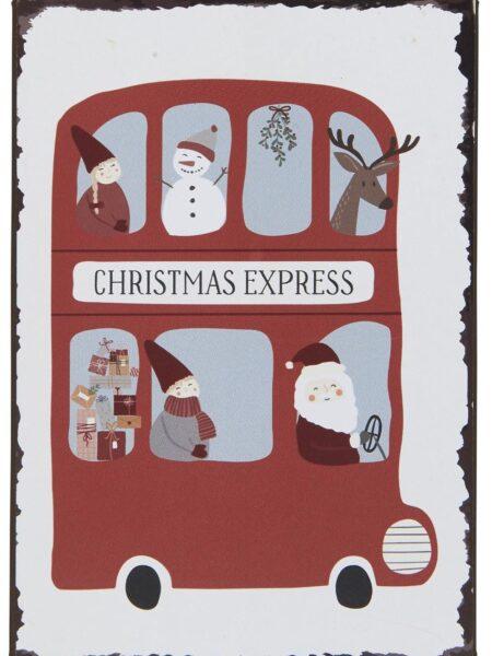 Metalskilt - Christmas Express