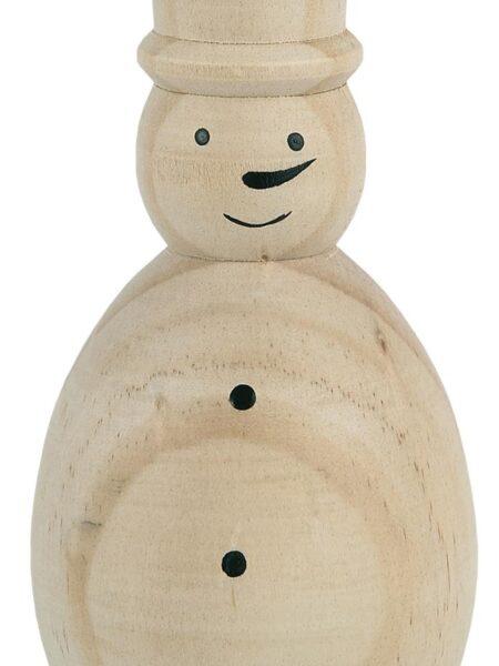 Snemand stående - Natur - Håndmalet