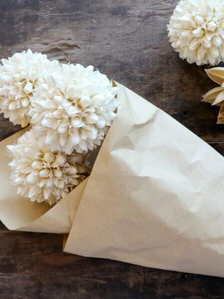 Fleur tørrede Snebold Blomster - creme