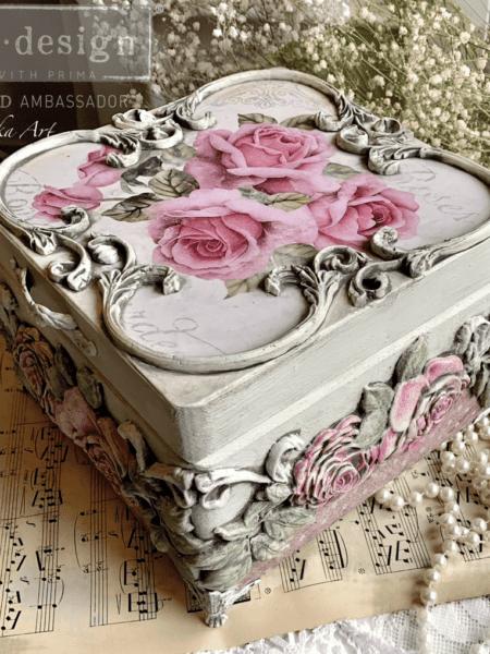 Deko. støbeform - Victorian Rose