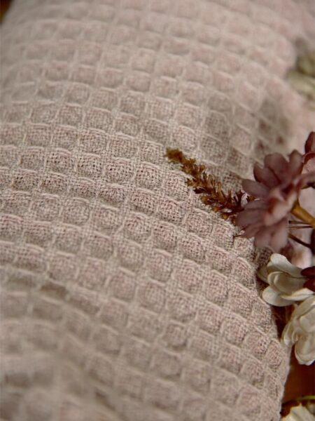 Håndklæde - 50x100 cm - Rosa/nougat